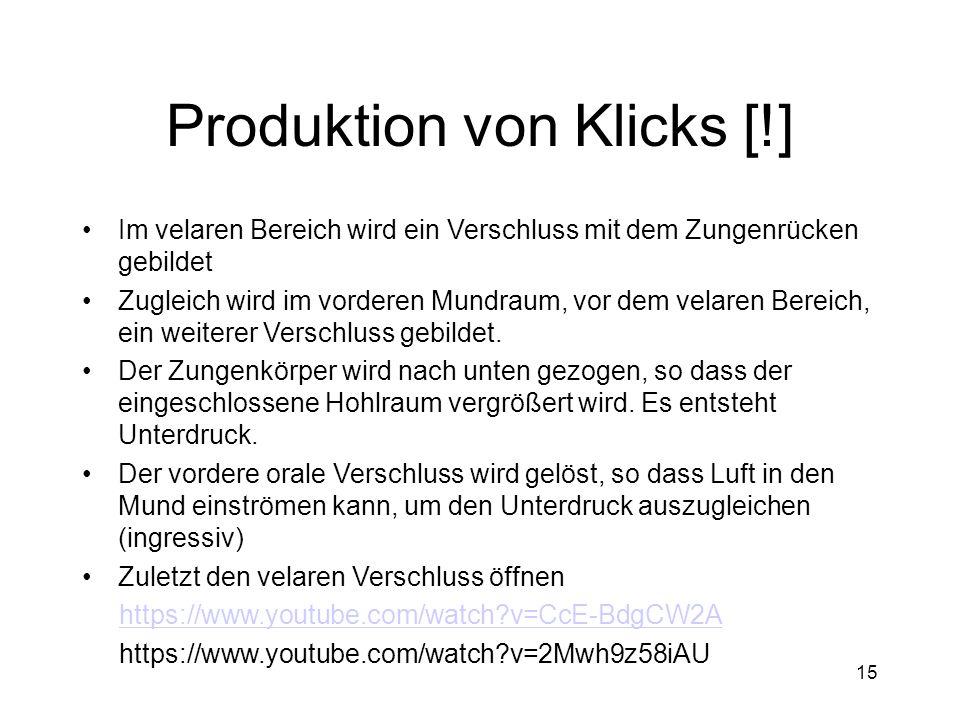 Produktion von Klicks [!]